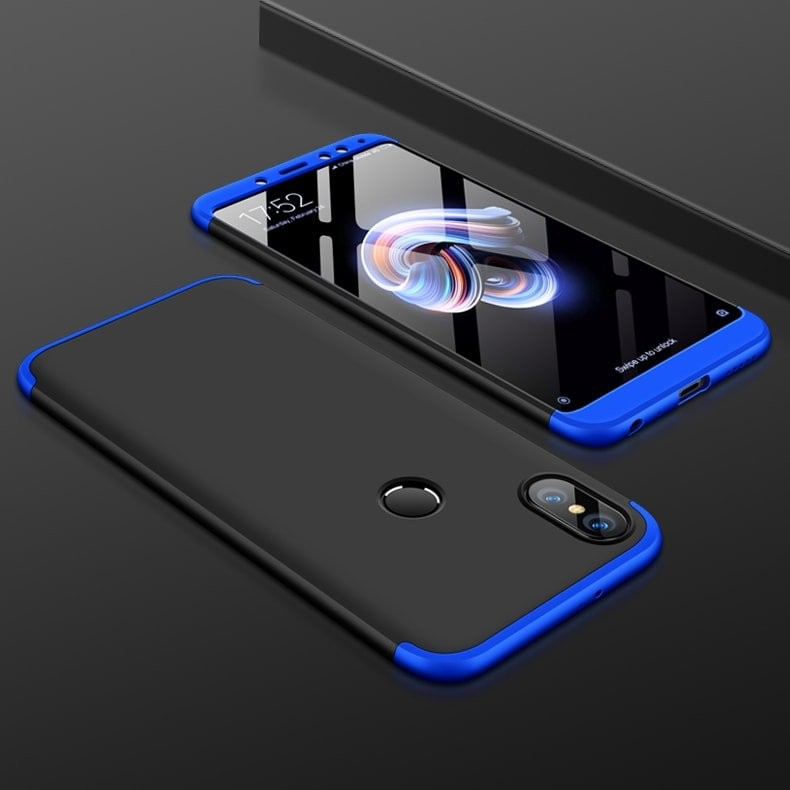 Coque 360 Xiaomi Redmi S2 Noir et Bleu.