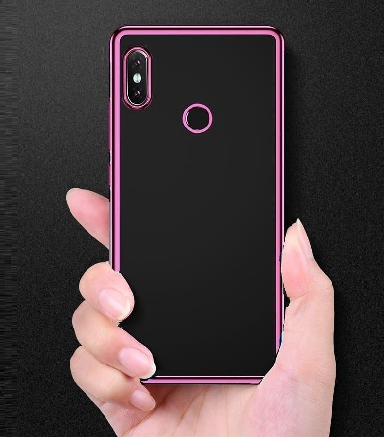 Coque Xiaomi Redmi S2 Tpu Bord Rose.