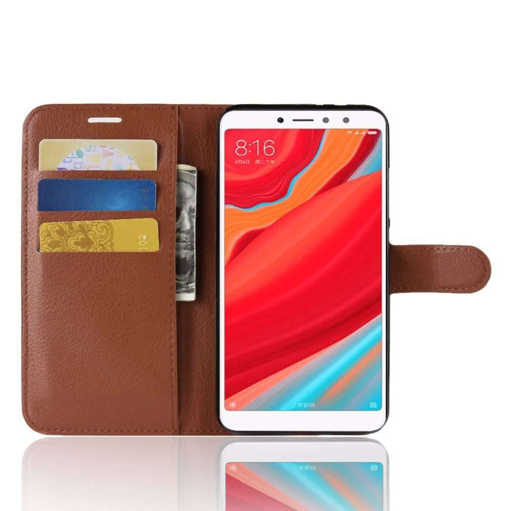 Etuis Portefeuille Xiaomi Redmi S2 Simili Cuir Marron