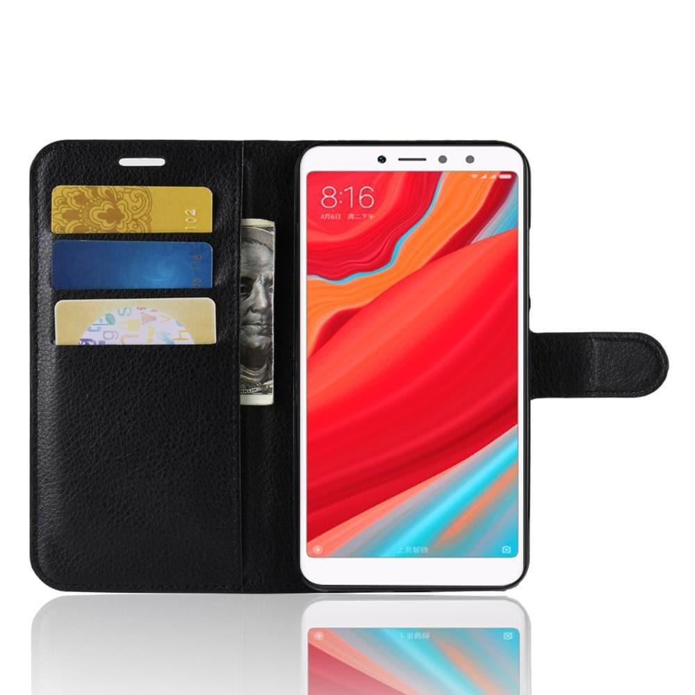 Etuis Portefeuille Xiaomi Redmi S2 Simili Cuir Noir.