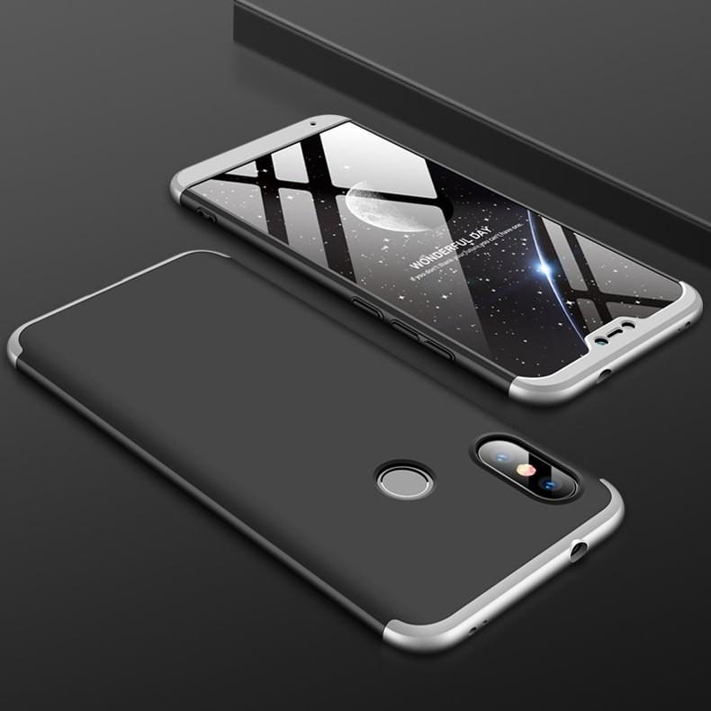 Coque 360 Xiaomi Mi A2 Lite Noir et Grise.