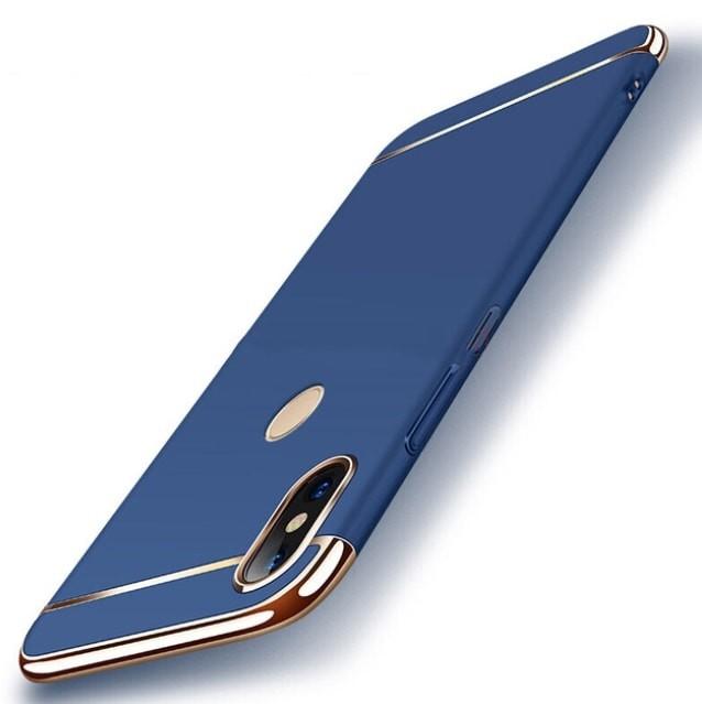 Coque Xiaomi MI A2 Lite Rigide Chromée Bleu.
