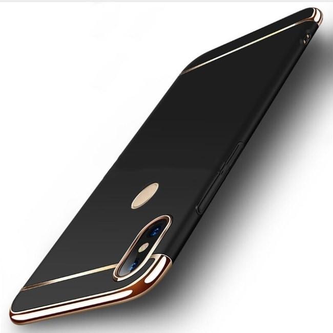 Coque Xiaomi MI A2 Lite Rigide Chromée Noir.