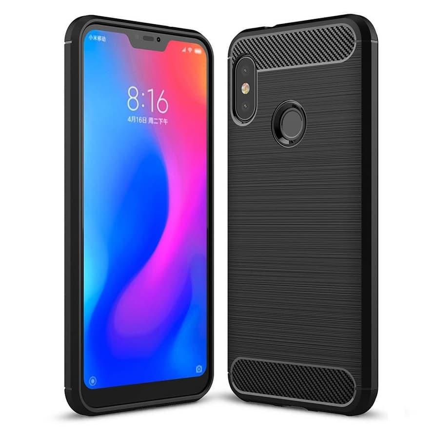 Coque Silicone Xiaomi MI A2 Lite Brossé Noire
