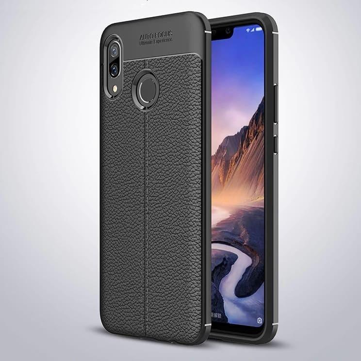Coque Silicone Huawei P Smart Plus Cuir 3D Noir