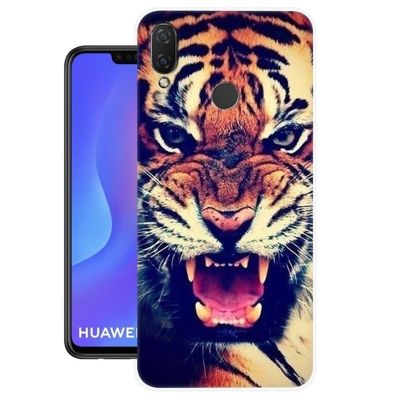 Coque Silicone Huawei P Smart Plus Tigre