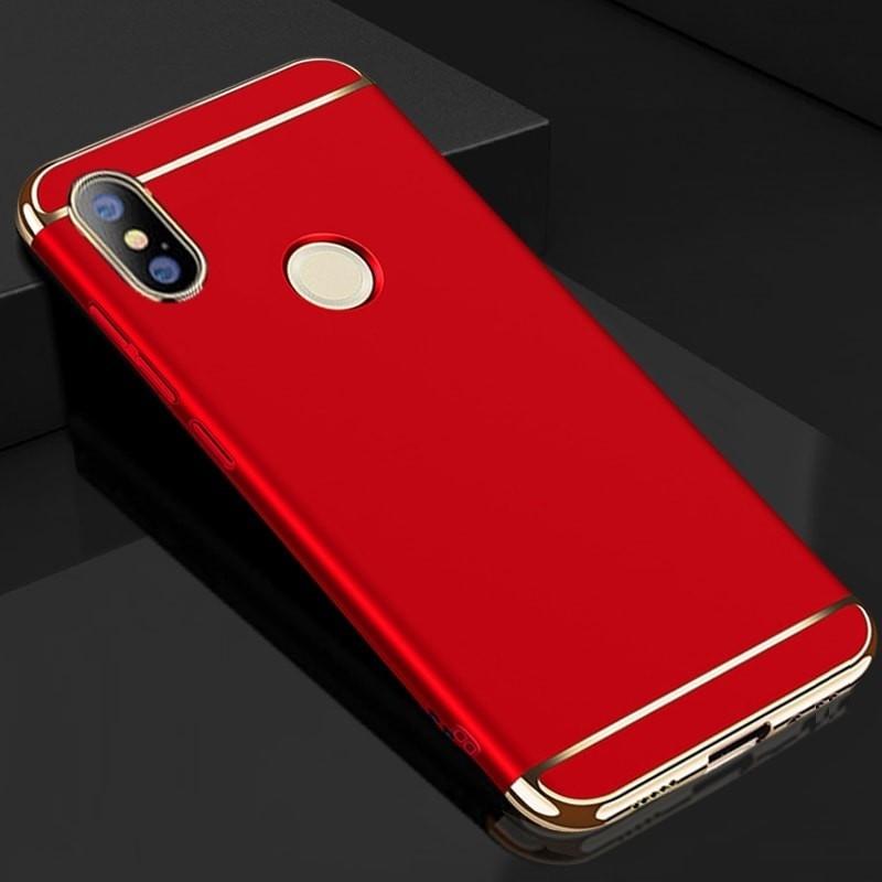 Coque Xiaomi MI A2 Rigide Chromée Rouge.