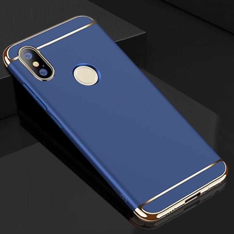 Coque Xiaomi MI A2 Rigide Chromée Bleu.