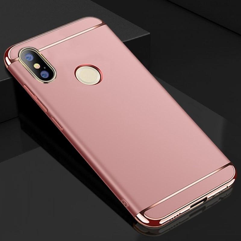 Coque Xiaomi MI A2 Rigide Chromée Rose.