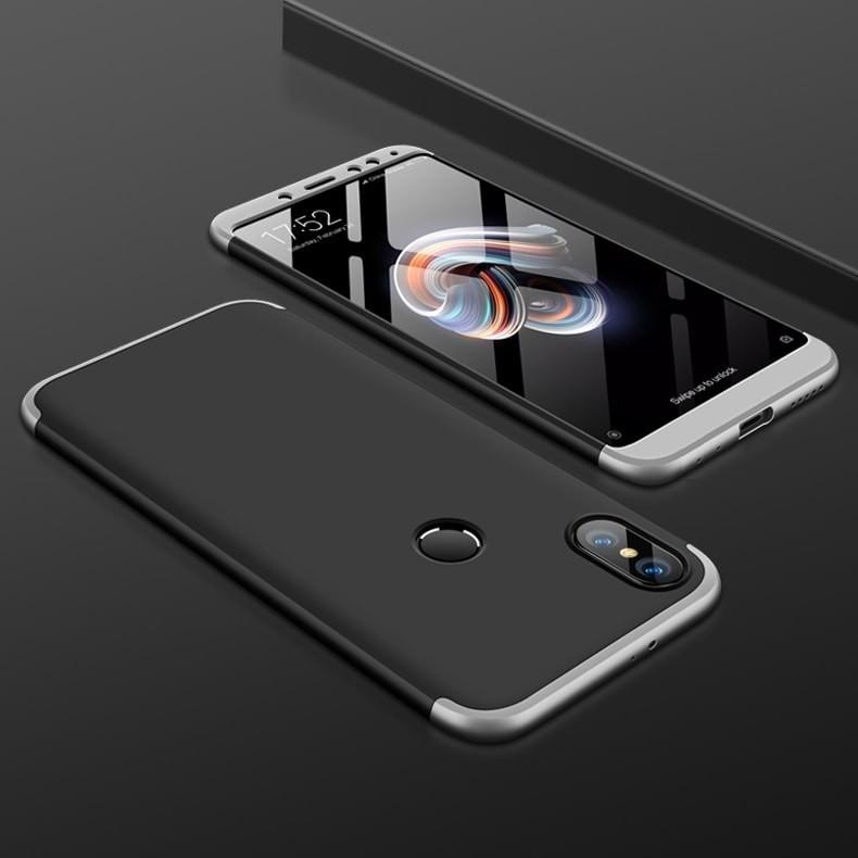 Coque 360 Xiaomi Mi A2 Noir et Grise.
