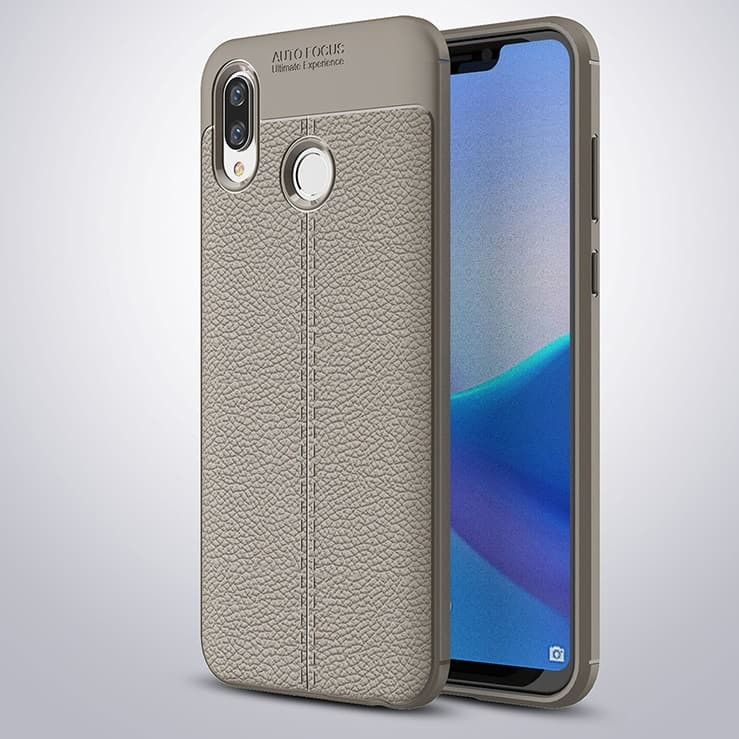 Coque Silicone Honor Play Cuir 3D Grise