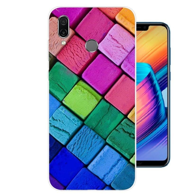 Coque Silicone Honor Play Cubes
