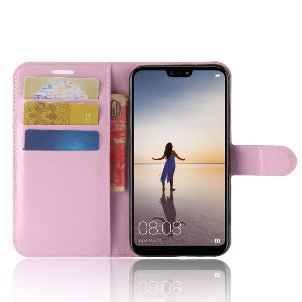 Etuis Portefeuille Huawei P20 Lite Simili Cuir Rose