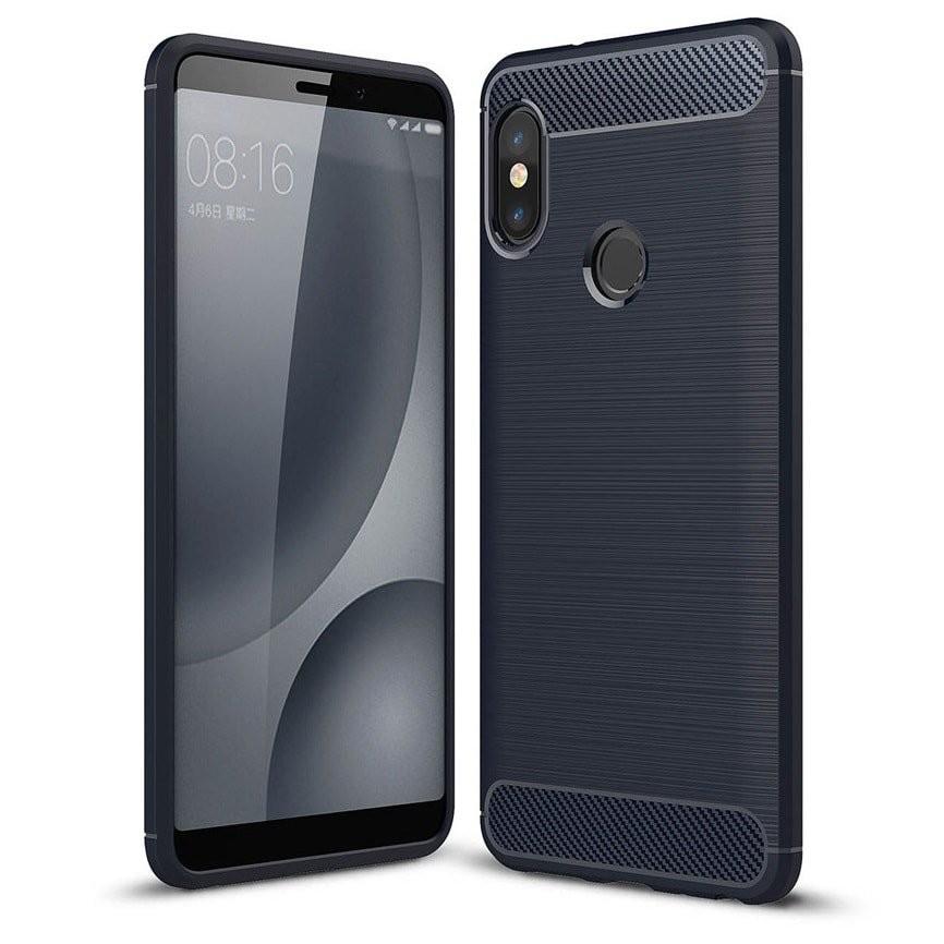 Coque Silicone Xiaomi MI A2 Brossé Bleu