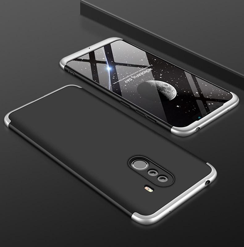 Coque 360 Xiaomi Pocophone F1 Noir et Grise.