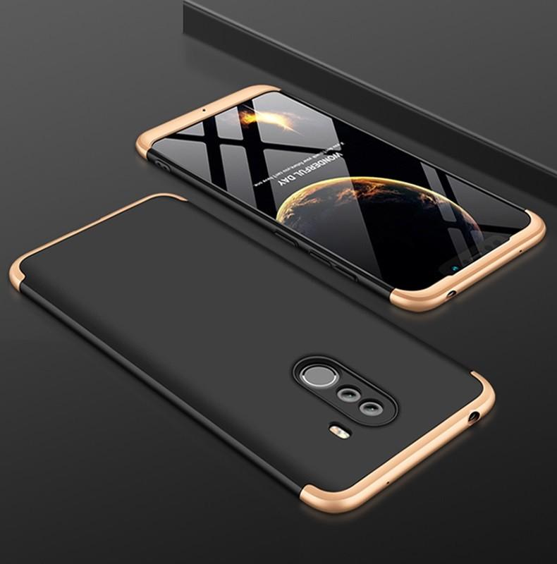 Coque 360 Xiaomi Pocophone F1 Noir et Or.