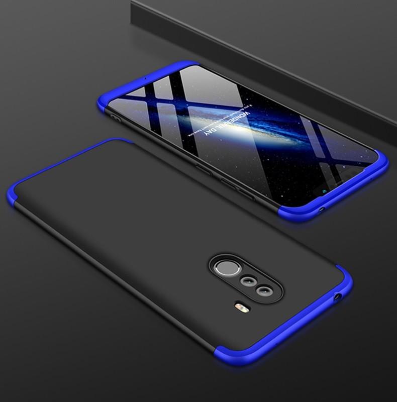 Coque 360 Xiaomi Pocophone F1 Noir et Bleu.