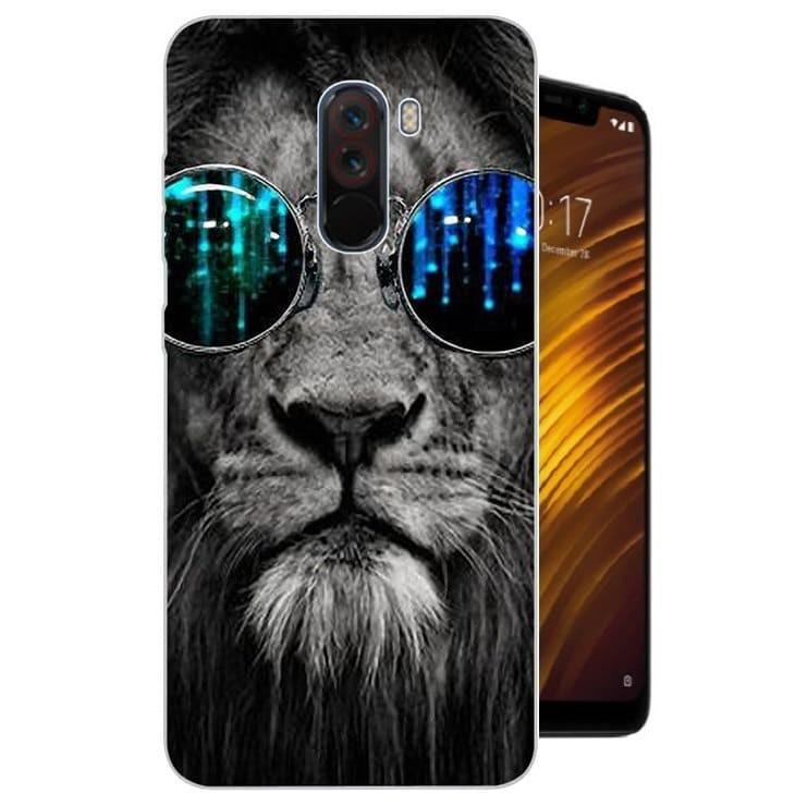 Coque Silicone Xiaomi Pocophone F1 Lion.