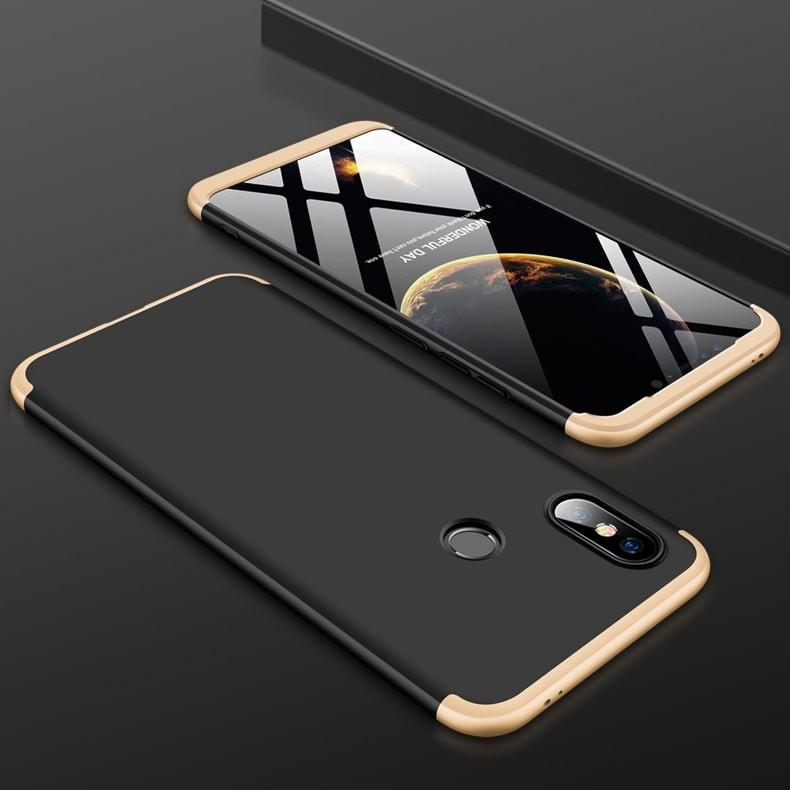 Coque 360 Xiaomi MI 8 SE Noir et Or.