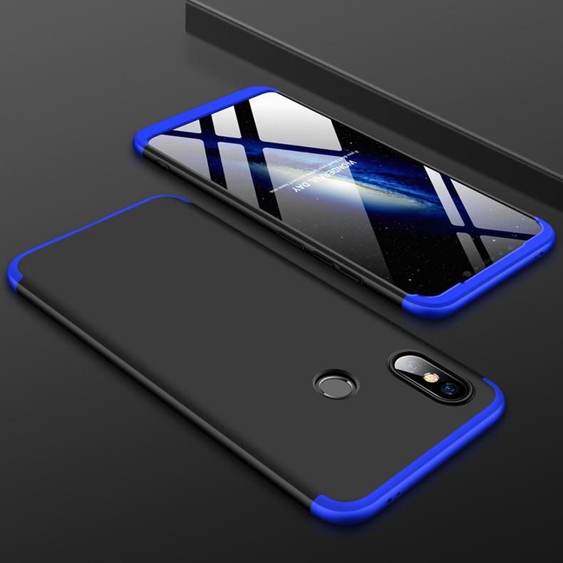 Coque 360 Xiaomi MI 8 SE Noir et Bleu.