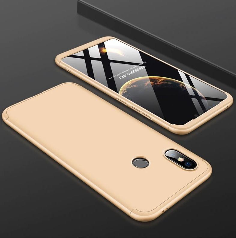 Coque 360 Xiaomi MI 8 SE Dorée.