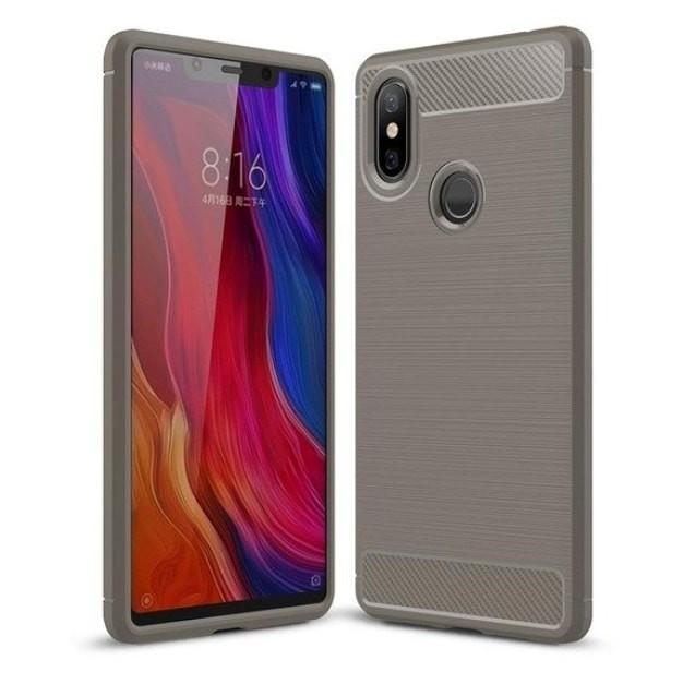 Coque Silicone Xiaomi MI 8 SE Brossé Grise