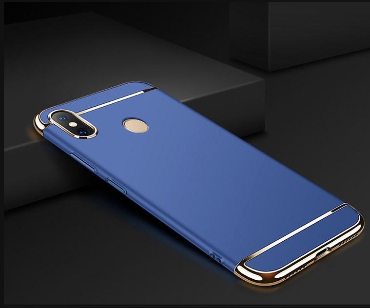 Coque Xiaomi MI 8 Rigide Chromée Bleu.