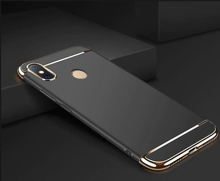 Coque Xiaomi MI 8 Rigide Chromée Noir.
