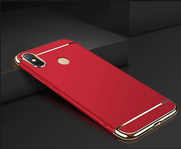 Coque Xiaomi MI 8 SE Rigide Chromée Rouge.