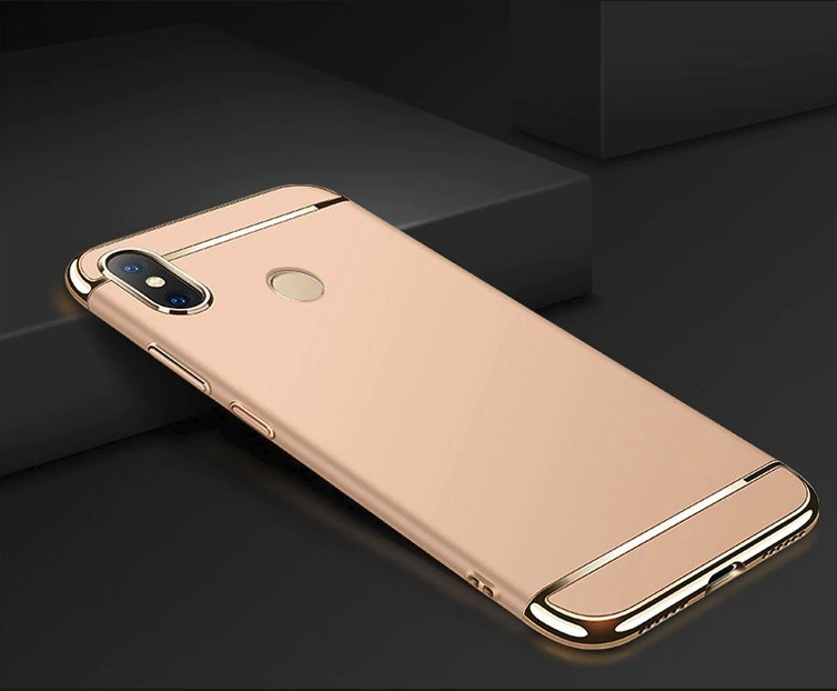 Coque Xiaomi MI 8 SE Rigide Chromée Dorée.