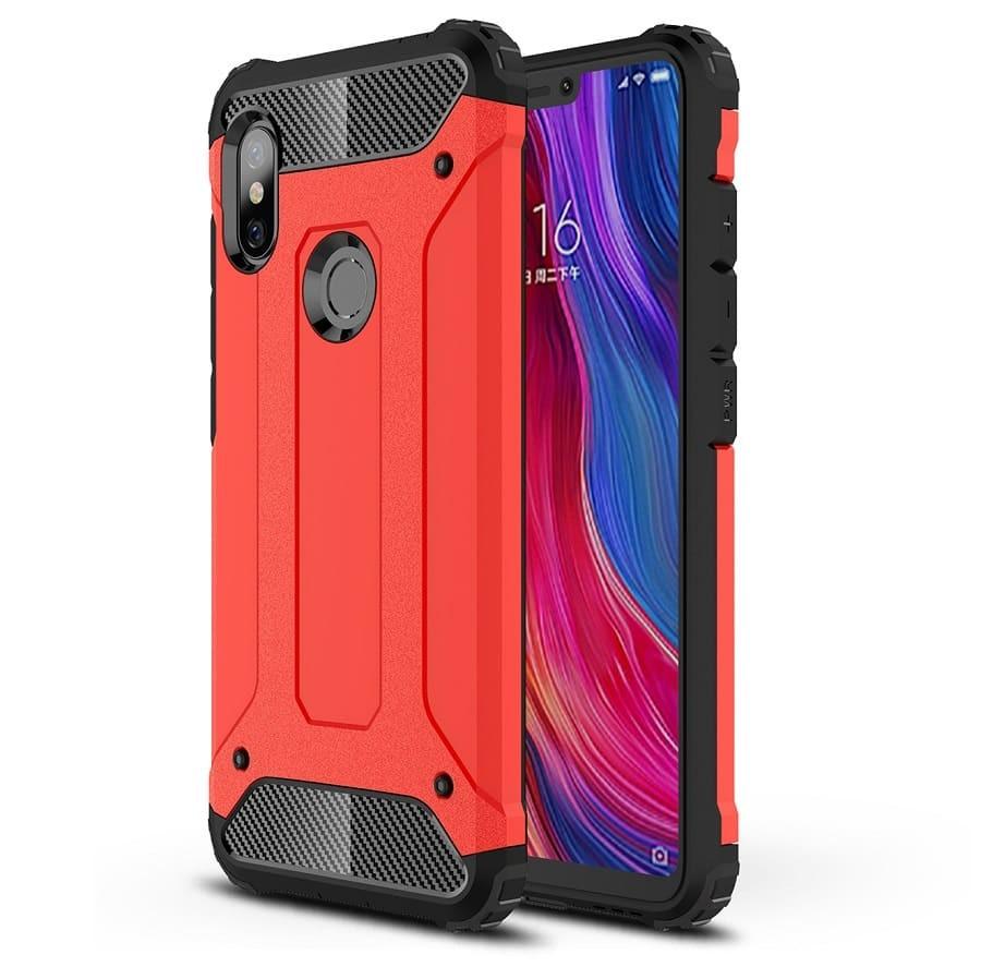 Coque Xiaomi Redmi Note 6 Pro Anti Choques Rouge