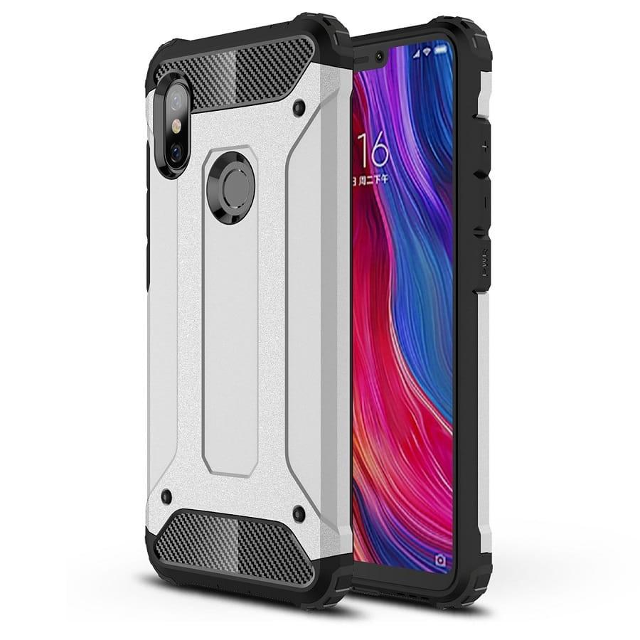 Coque Xiaomi Redmi Note 6 Pro Anti Choques Argent