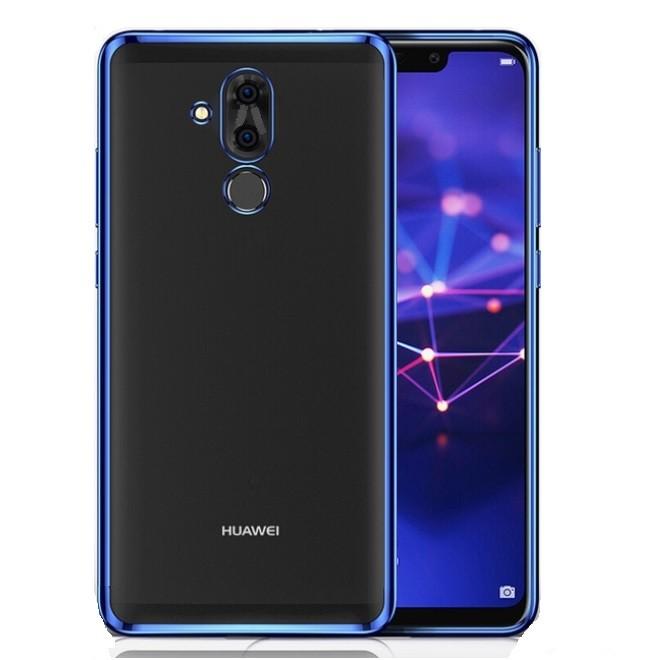 Coque TPU Huawei Mate 20 Lite Chromée Bleu