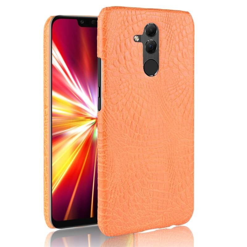 Coque Huawei Mate 20 Lite Cuir Orange