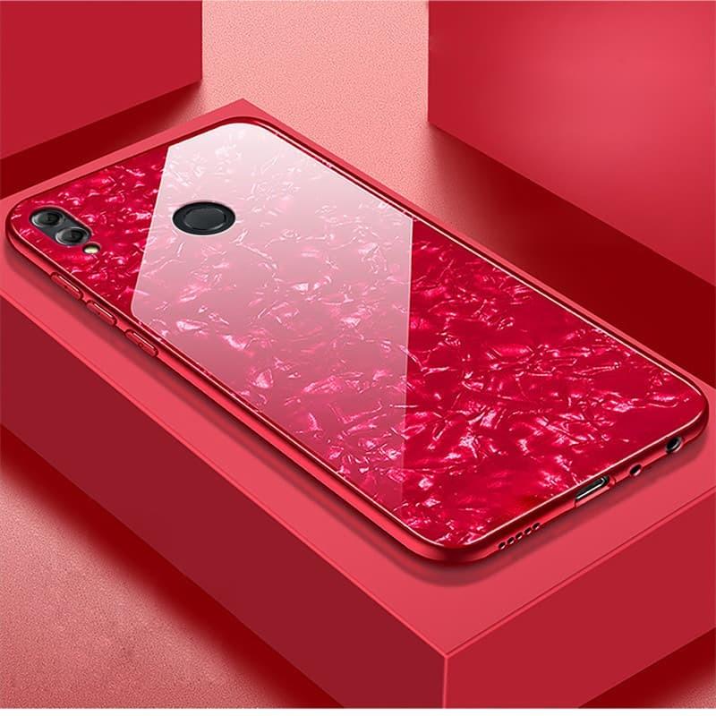 Coque Honor 8X Silicone et Verre Trempé rouge