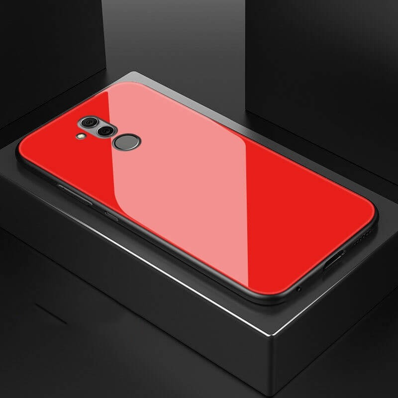 Coque Huawei Mate 20 Lite Silicone Rouge et Verre Trempé
