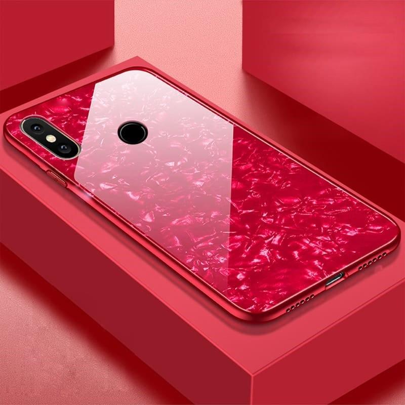 Coque Xiaomi Redmi Note 6 Pro Silicone Rouge et Verre Trempé
