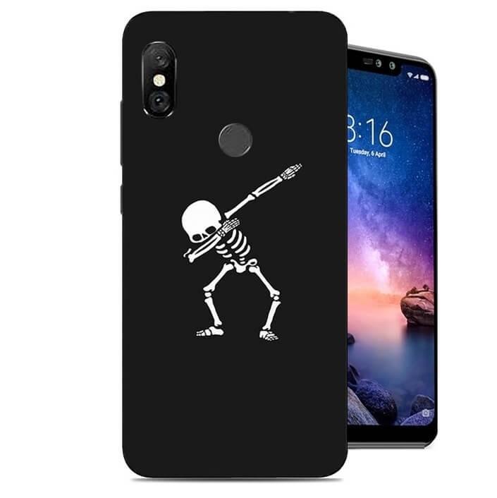 Coque Silicone Xiaomi Redmi Note 6 Pro Squelette