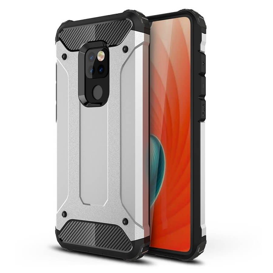 Coque Huawei Mate 20 Anti Choques Argent