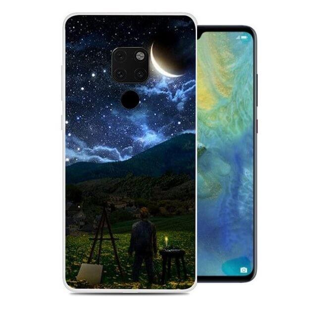 Coque Silicone Huawei Mate 10 Lite Lune