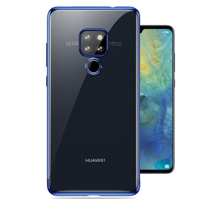 Coque Huawei Huawei Mate 20 Silicone Chromée Bleu