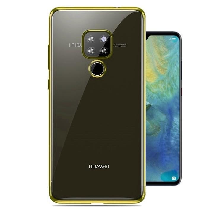 Coque Huawei Huawei Mate 20 Silicone Chromée Dorée