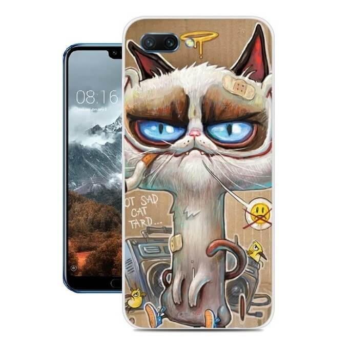 Coque Silicone Honor 10 Vilain Chat