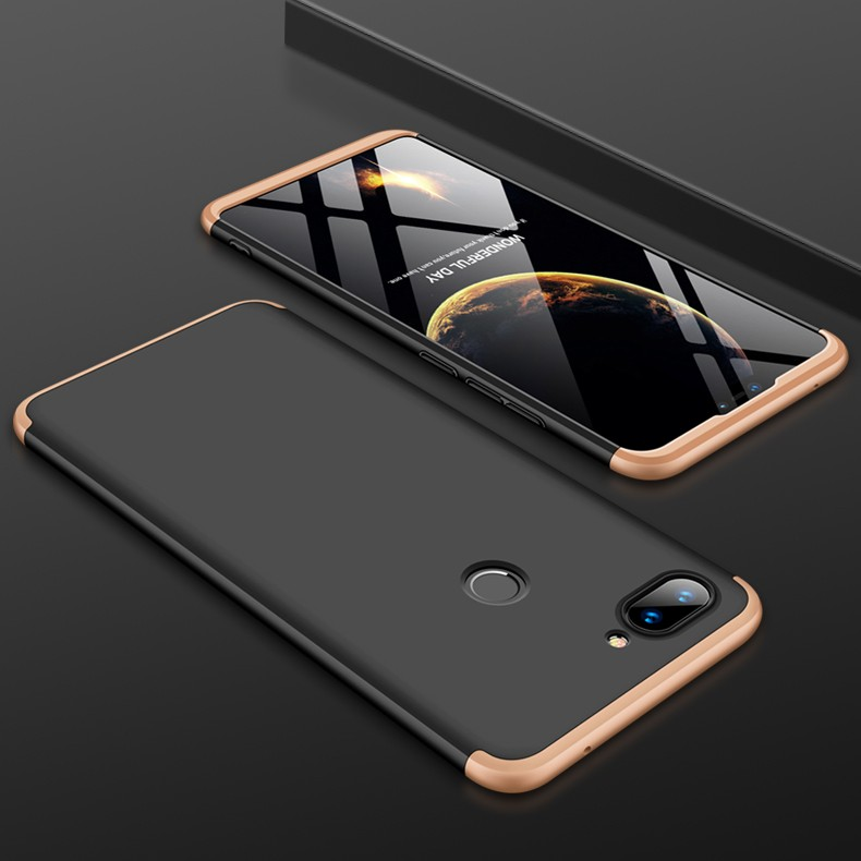 Coque 360 Xiaomi MI 8 Lite Noir et Or.