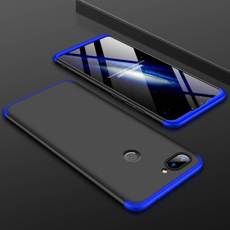 Coque 360 Xiaomi MI 8 Lite Noir et Bleu.
