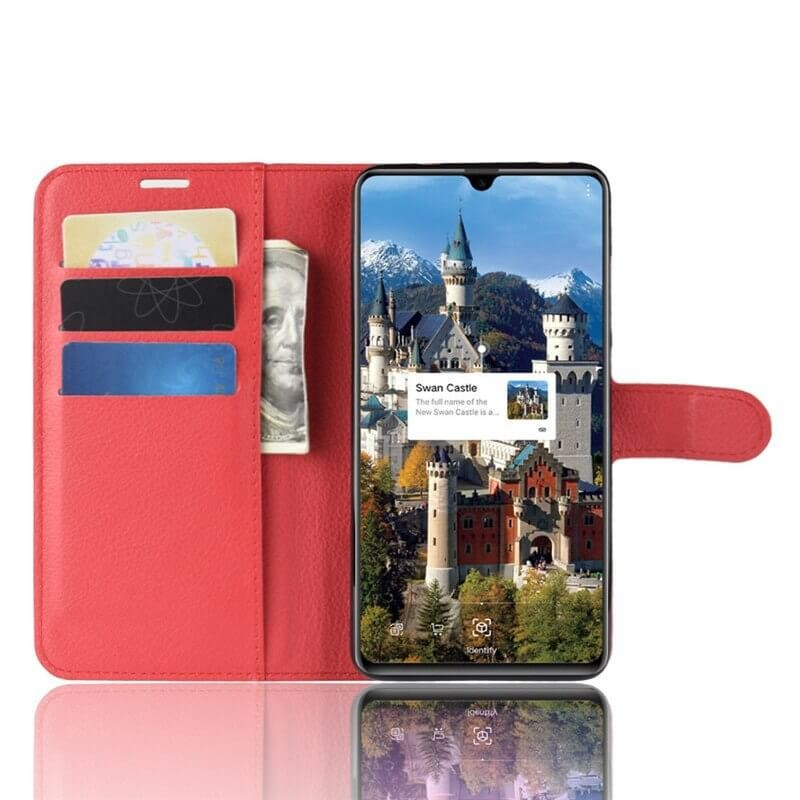 Etuis Portefeuille Huawei Mate 20 Simili Cuir Rouge