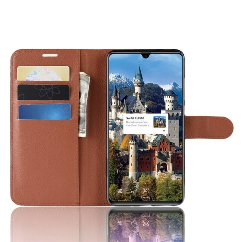 Etuis Portefeuille Huawei Mate 20 Simili Cuir Marron
