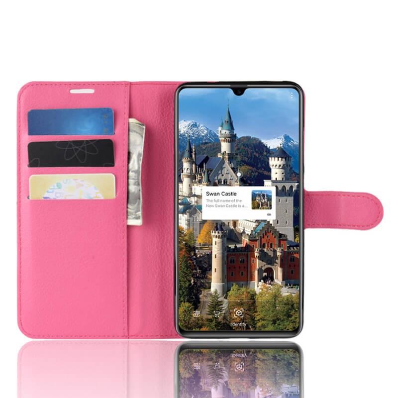 Etuis Portefeuille Huawei Mate 20 Simili Cuir Fushia