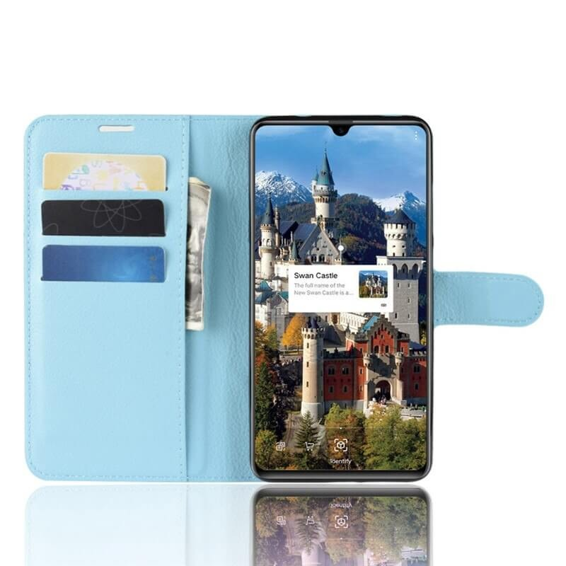 Etuis Portefeuille Huawei Mate 20 Simili Cuir Bleu