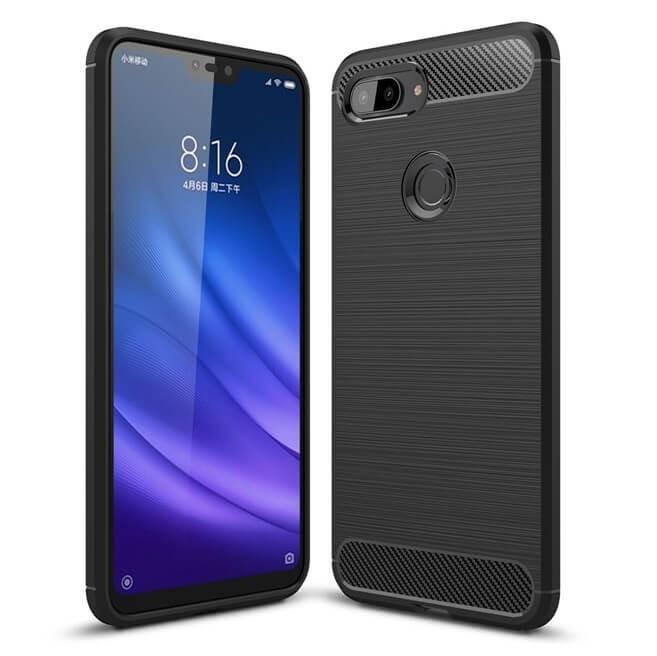 Coque Silicone Xiaomi MI 8 Lite Brossé Noir